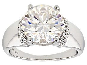 Pre-Owned Moissanite Platineve Ring 6.33ctw D.E.W