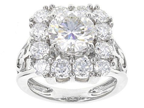 Pre-Owned Moissanite Platineve Ring 3.58ctw D.E.W
