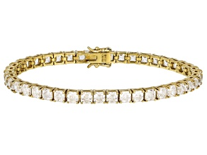Pre-Owned White Zirconia From Swarovski ® 18K Yellow Gold Over Silver Tennis Bracelet 15.88ctw