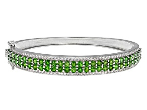 Pre-Owned Green Chrome Diopside Sterling Silver Bracelet 8.35ctw