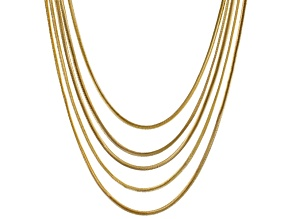 Pre-Owned Gold Tone Multi Strand Necklace