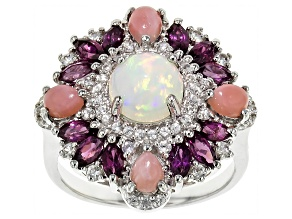 Pre-Owned Ethiopian Opal Sterling Silver Ring 2.43ctw