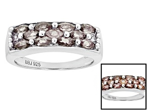 Pre-Owned Color shift Garnet Sterling Silver Ring .91ctw