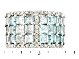 Pre-Owned Sky Blue Topaz Sterling Silver Ring 4.31ctw