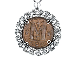 Pre-Owned Coin Silver Pendant With Chain