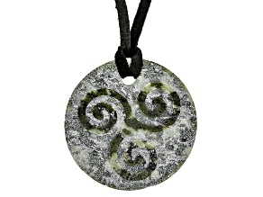 Pre-Owned Green Connemara Marble Necklace