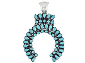 Pre-Owned Turquoise Kingman Silver Naja Pendant