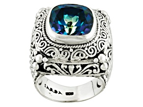 Pre-Owned Blueicious™ Quartz Sterling Silver Ring 4.28ctw