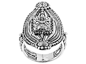 Pre-Owned Sterling Silver Marquis De France Ring