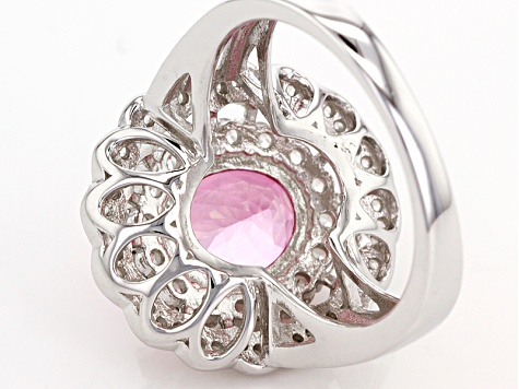 Pre-Owned Pink Danburite Sterling Silver Ring 3.45ctw