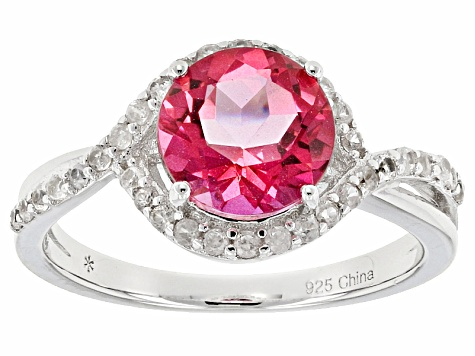 Pre-Owned Pink Danburite Sterling Silver Ring 2.78ctw
