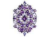 Pre-Owned Purple amethyst rhodium over silver ring 4.63ctw