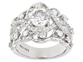 Pre-Owned Moissanite Platineve Ring 2.62ctw D.E.W