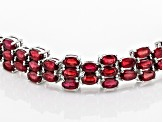 Pre-Owned Mahaleo Ruby Sterling Silver Bracelet 27.09ctw