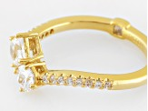 Pre-Owned Cubic Zirconia 18k Yellow Gold Over Sterling Silver Ring 1.23ctw (.80ctw DEW)