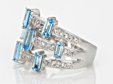 Pre-Owned Swiss Blue Topaz Sterling Silver Ring 1.60ctw