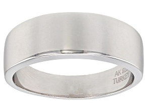 Pre-Owned Sterling Silver Polished Graduated Band Ring