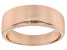 Pre-Owned 18k Rose Gold Over Sterling Silver Polished Graduated Band Ring