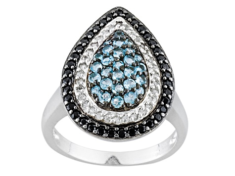 Pre-Owned Swiss Blue Topaz Sterling Silver Ring 1.30ctw.