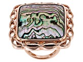 Pre-Owned Multicolor Abalone Shell Copper Ring
