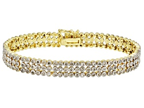 Pre-Owned Diamond 18K Yellow Gold over Brass Bracelet 1.00ctw