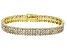 Pre-Owned Diamond 18K Yellow Gold over Brass Bracelet 1.00ctw