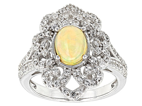 Pre-Owned Ethiopian Opal Sterling Silver Ring 1.34ctw