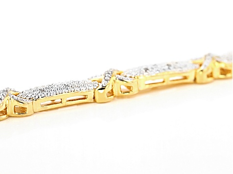 Pre-Owned Diamond 14k Yellow Gold Over Brass Bracelet .25ctw