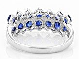 Pre-Owned Blue Kanchanaburi Sapphire Sterling Silver Ring 1.78ctw