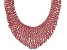 Pre-Owned Round Red Crystal Silver Tone Statement Necklace