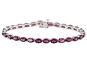 Pre-Owned Purple Raspberry Rhodolite Silver Bracelet 13.32ctw