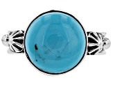 Pre-Owned Turquoise Sleeping Beauty Silver Ring