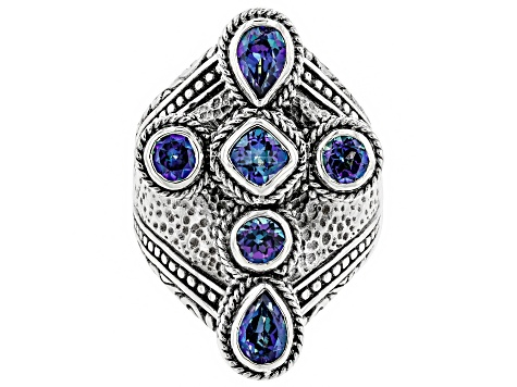 Pre-Owned Blue Sheer Luck™ Mystic Topaz® Silver Ring 2.13ctw