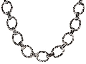 Pre-Owned Sterling Silver Oval Chain Link Necklace