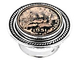 Pre-Owned Sterling Silver Coin Ring