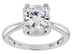 Pre-Owned Moissanite 14k White Gold Ring 1.90ct DEW