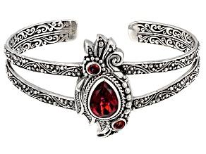 Pre-Owned Savage Fire™ Mystic Quartz® Silver Cuff Bracelet 4.53ctw