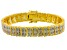 Pre-Owned Diamond 14k Yellow Gold Over Brass Bracelet 1.00ctw