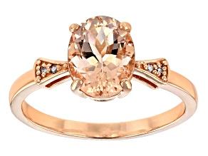 Pre-Owned Pink morganite 10K rose gold ring 1.44ctw