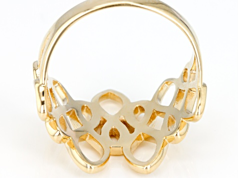 Pre-Owned 10k Yellow Gold Geometric Statement Ring