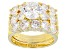 Pre-Owned Womens Wedding Set Ring Cubic Zirconia 8.57ctw 18k Yellow Gold Over Sterling Silver