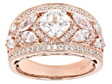 Pre-Owned White Cubic Zirconia 18k Rose Gold Over Sterling Silver Ring 3.45ctw