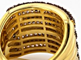 Pre-Owned Brown Cubic Zirconia 18k Yellow Gold Over Silver Ring 2.46ctw (1.08ctw DEW)
