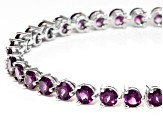 Pre-Owned Purple Raspberry Rhodolite Silver Bracelet 13.06ctw