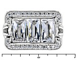 Pre-Owned Cubic Zirconia Platineve Ring 7.52ctw (4.89ctw DEW)