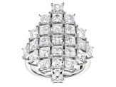 Pre-Owned White Cubic Zirconia Platineve Ring 9.32ctw