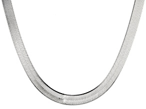 Pre-Owned Sterling Silver Herringbone Link Necklace 20 inches