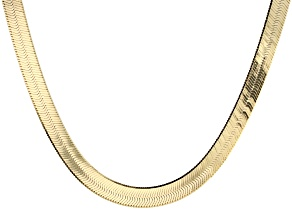 Pre-Owned 18k Yellow Gold Over Silver   Omega Necklace