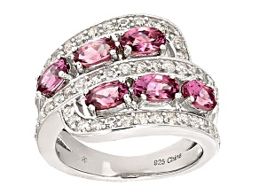Pre-Owned Pink Garnet Sterling Silver Ring 2.75ctw