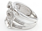 Pre-Owned Rhodium Over Sterling Silver Diamond Ring .20ctw